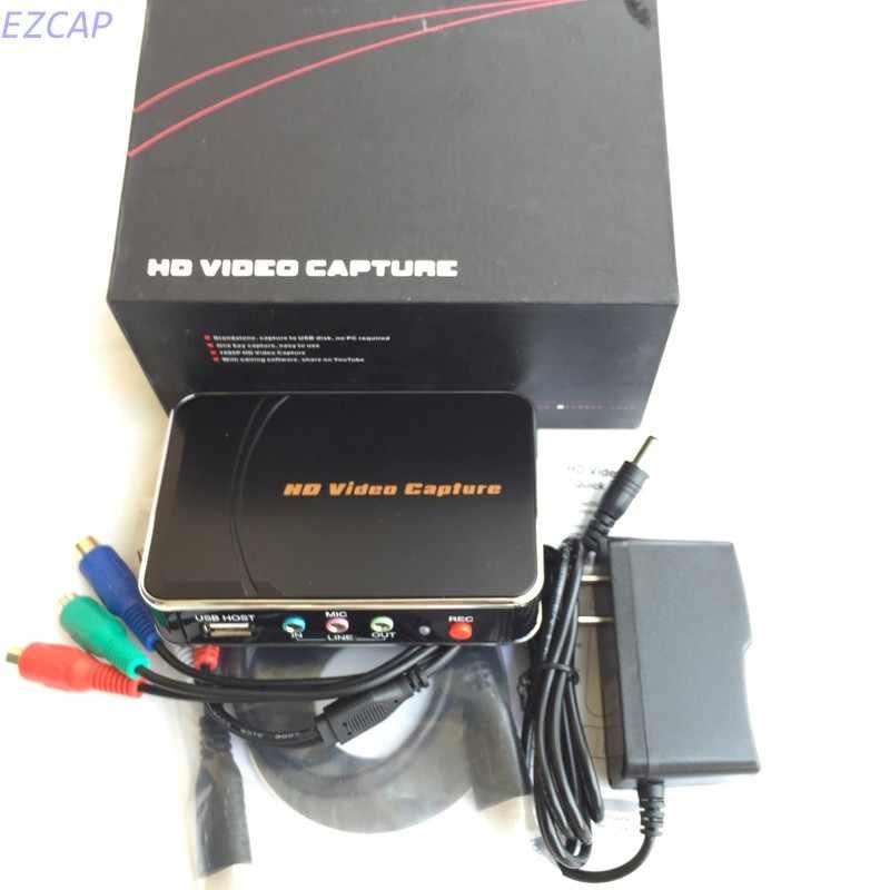 HD Video Game Tangkap Box HDMI YPbPr Perekam One-denting Merekam Ke USB Flash Untuk XBOX 360/One PS3 Untuk WII U 1080 P Rec
