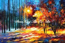 palette knife oil painting  modern oil painting canvas oil painting K175