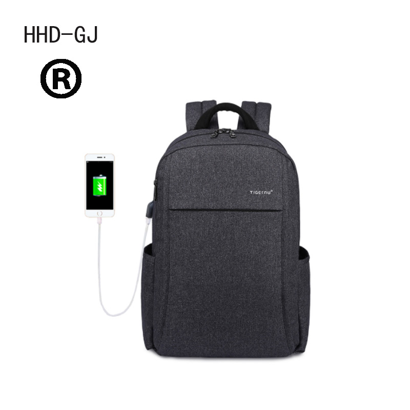 2017 New Design HHD-GJ Anti-thief USB charging 15.6 laptop Compute backpack for women male Backpack school Bag for Men Mochila