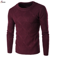 2017 new Autumn solid Casual Men Sweater male Brands Sweater Winter Men's O Neck Cotton Sweater Jumpers Pullover Sweater Men