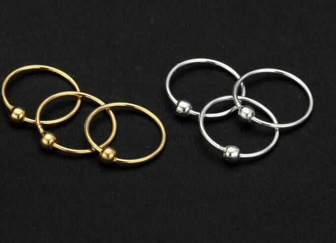20 قطعة 925 فضة موضة مجوهرات للجسم من كرات الأنف الدائري للنساء فتاة مجموعة ثقب الملحقات بيجو صندوق صندوق هدايا