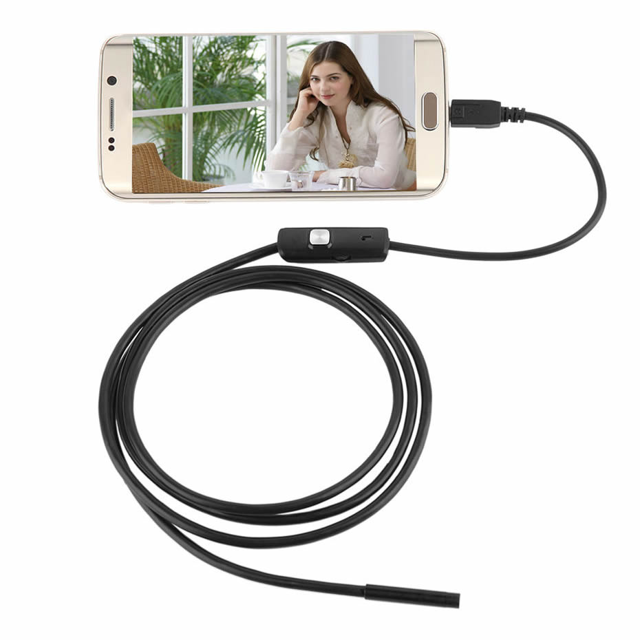 Wsdcam Waterproof Endoscope Camera with USB Interface and 6 LED Light for Android/iOS Phone 1