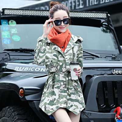 New 2015 Women Fur Collar Thicken Wadded Parkas Fashion Winter Coat Women Camouflage Cotton Padded Jackets Overcoat 3XL H5931
