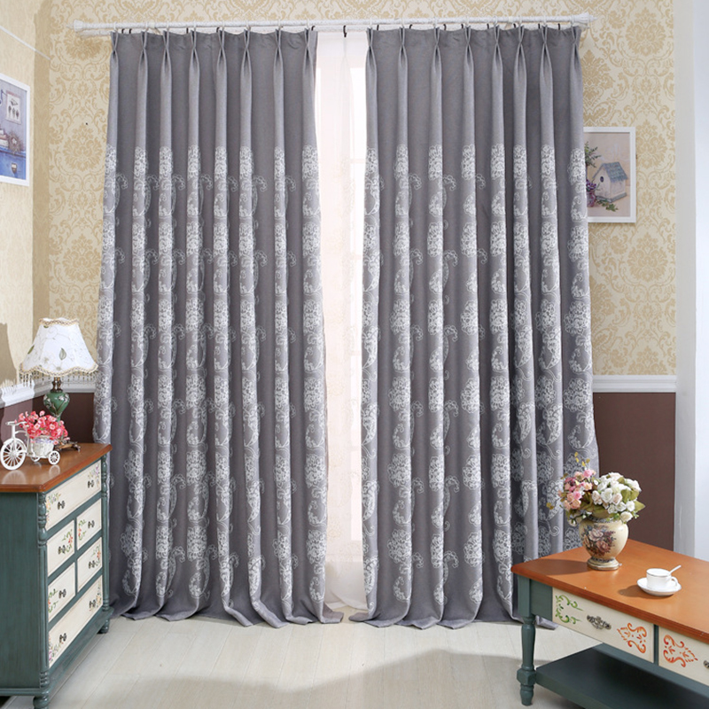 Huayin Velvet Linen Curtains Tulle Window Curtain For: Europe Curtains For Bedroom Blackout Linen Embroidered