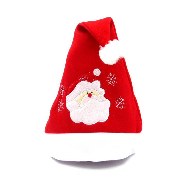 MUQGEW 1Pcs Christmas Party Santa Hat Red And White Cap for Santa Claus Costume New Velvet Winter Hat 2017 New Creatiove Hats