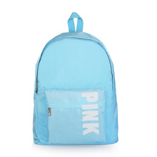 Simple Letter Backpack PINK Korean Version Of The Wild Large Capacity Backpack Waterproof Breathable Oxford Cloth Student Bag