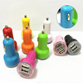 2 Port Mini Dual USB Car Charger Adapter For iphone 4 4s for ipad Touch For Samsung Galaxy S6 S5 S4 Mobile phone Car Charger