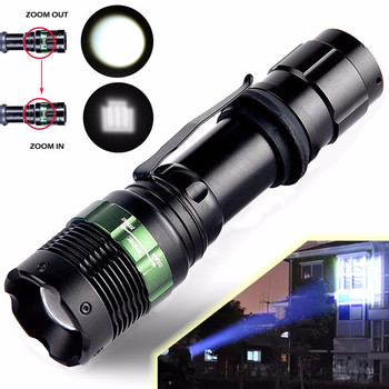 2018 2000 Lumen Zoomable Cree XML T6 LED 18650 Flashlight Focus Torch Zoom Lamp Light Safety & Survival Z1012 5Up ndtusmz 6000 lumen cree xm xml t6 led koplamp zaklamp hoofd lamp light not include 2 18650 oplader and auto charger