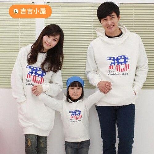 Осень и зиму семьи взгляд толстовки одежда мать и дочь сын отца мальчик девочка с женщины мужчины детской одежды осень мини-150m