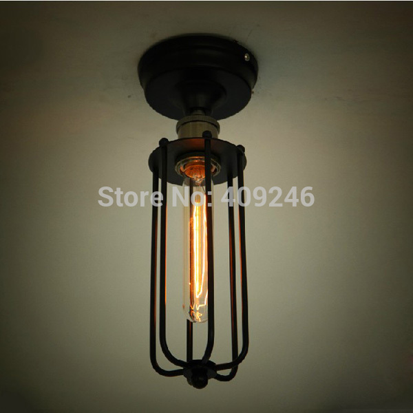 ФОТО LOFT Industrial  Edison Bulb T185 Rusty Color Vintage Style Ceiling / Wall Lamp (Including bulb) Cafe Bar Club