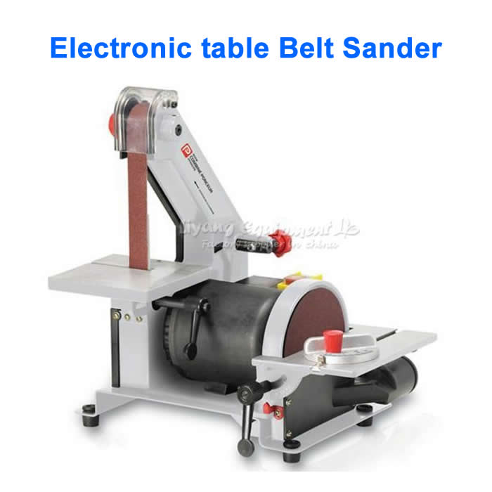 25 * 762mm electronic table Belt Sander, polishing machine & Vertical Grinder vertical type abrasive belt machine polishing grinding small bench 915 sand belt
