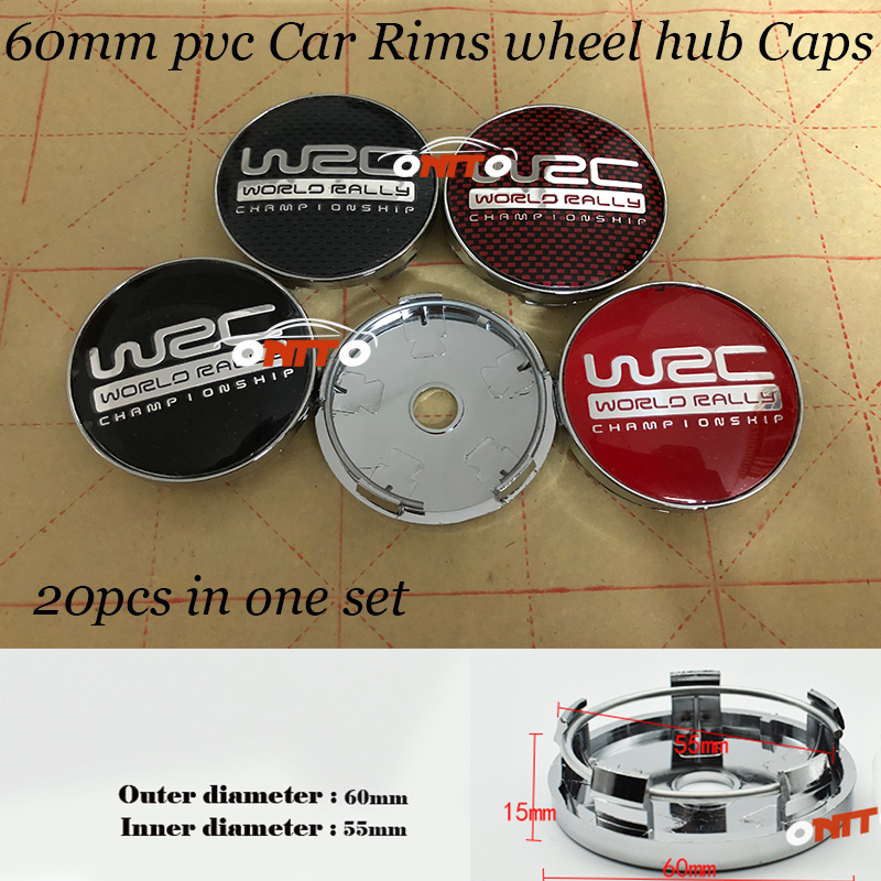 Free shipping 56mm 60mm Car Wheel hub Caps for WRC LOGO Badge Emblem Car covers stickers accessories <font><b>20PCS</b></font>/LOT image