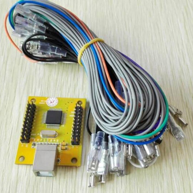 R$ 330 38 |2 jogador Mame Arcade peças DIY: PC PS3 2 em 1 encoder USB para  Empurrar HAPP Botões Joysticks 4/8 way & 16 60 em 1-in Jogos que funcionam