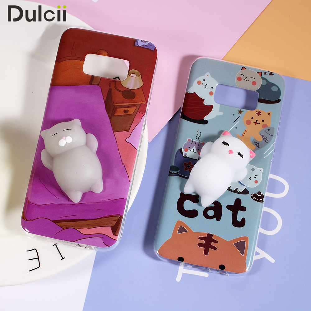 Squishy Cat Belly Phone Case : Aliexpress.com : Buy Dulcii Phone Case Squishy 3D Silicone Cat TPU Case Shell for Samsung Galaxy ...