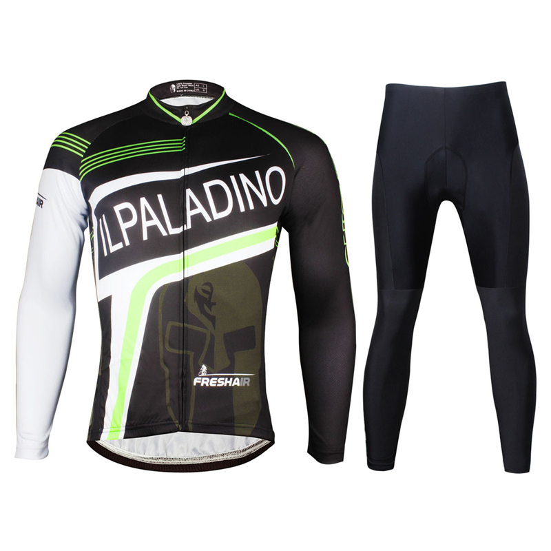 ILPALADINO 2018 Cycling Set Men Bike Sportwear Pro Cycling Jerseys Set Ropa Ciclismo Bicycle Long Sleeve Clothes Riding Uniforms