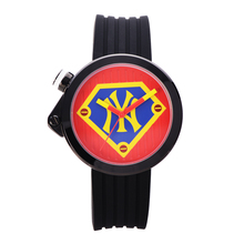 MLB NY Fashion Superman Style Watch Rubber Band Waterproof  Ladies Watches Lover's  Quartz  Wrist Watch relogio masculino SD016