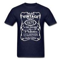 Hight qualité mode 40e anniversaire idées cadeaux pour hommes et femmes Unique t - Shirt Vingate 1975 - 2015 coton Tees Shirt Euro taille