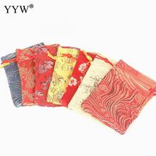 YYW Silk Bag Drawstring Pouch Mixed Colors Necklace Bracelet Beads Bags Jewelry Packaging Christmas/Wedding Gift Bag 90x120mm
