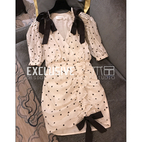 Svoryxiu 2018 Summer Sexy V Neck Vacation Style Dress Women's High End Custom Made Dress