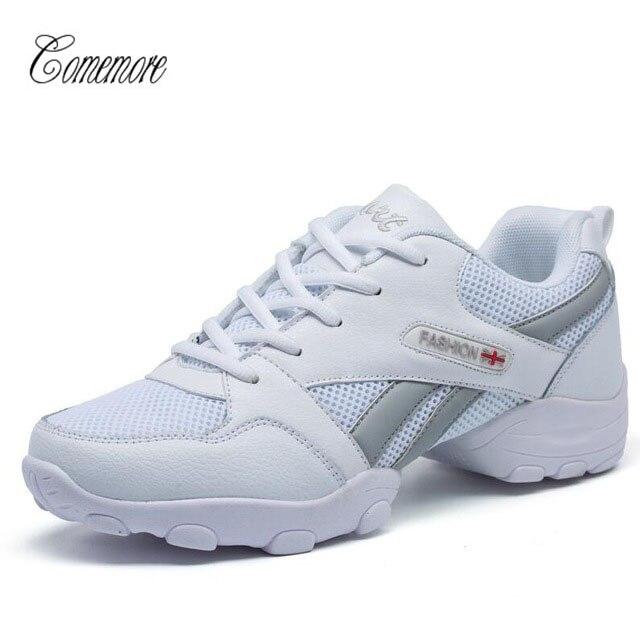 Comemore Men Modern Latin Dance Shoes Low Heeled Soft Sole Tango Shoes Professional Boys Ballroom Dancing Shoes Black&White