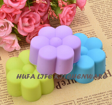 5pcs promotion hot sle DIY flower silicone cake mold chocolate jelly ice cream mold soap mold muffin mold cupcake very low price