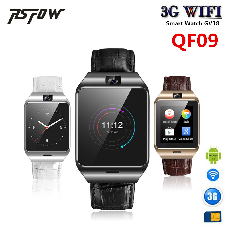 RsFow QF09 android 4.4 Smart watch GV18 mtk6572 SmartWatch for android iPhone support 3G wifi GPS SIM GSM WCDMA Camera Video мобильный телефон apple iphone 4s i4s 16gb 32gb ios 8 gsm wcdma 3g wifi gps 8mp 1080p 3 5