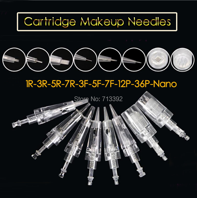 100pcs (Bayonet port) Cartridges Needles Sterilized Permanent Makeup Machine Needles For Tattoo Eyebrow Liner Lips Supply