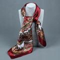 Компас моделирования следа полотенце летний стиль шарф Прибытие живописи Цветок 90*90 Печатной площади шарф шелковый шарф женщина