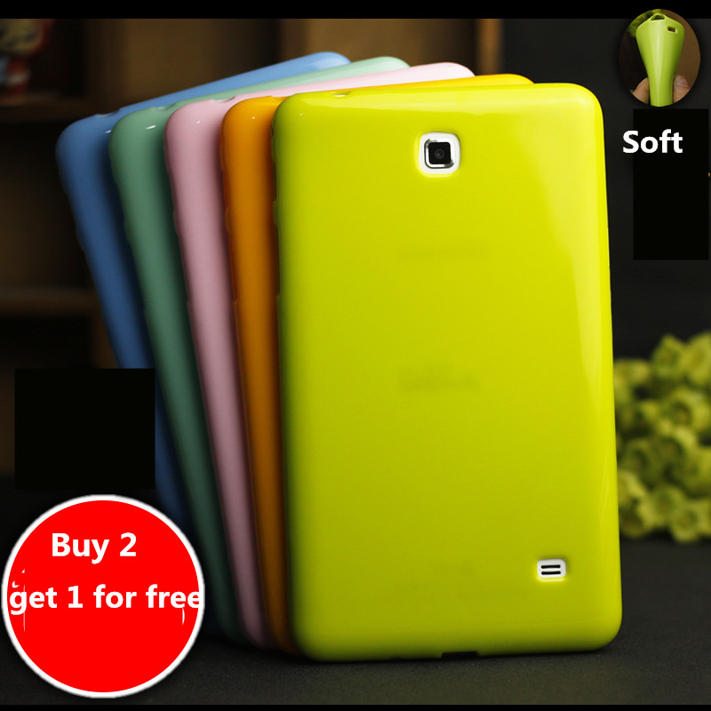 Colorful Case For Samsung Galaxy Tab 4 7.0 inch T230 / T231 T235 Tablet case Soft Silicone TPU Back Cover Case Protective shell
