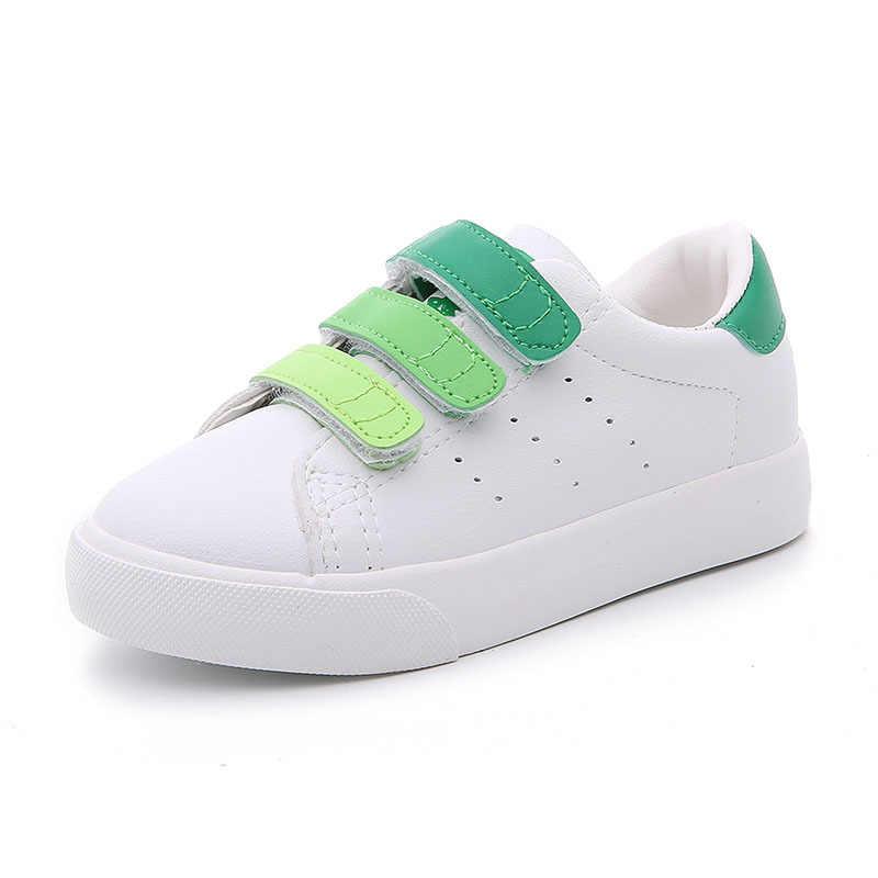 Kinder Schuhe Für Mädchen 2018 Neue Mode Herbst Jungen Casual Schuhe Kinder Skate Schuhe Mädchen Turnschuhe Weiß Schuhe Hohe qualität