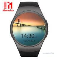 KW18 Kingwear Original Apoio Tf SIM Smartwatch Bluetooth Relógio Inteligente Tela Cheia de Freqüência Cardíaca Telefone para Apple S2 Huawei