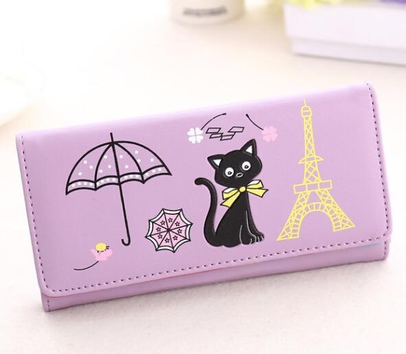 2016 Large Ladies Purse Cute cartoon wallet mobile <font><b>phone</b></font> anime wallet ladies card holder purses designer Portable Cash Purses