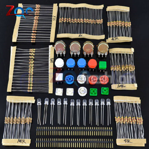 цена на Electronic Parts Pack KIT For ARDUINO Component Resistors Switch Button