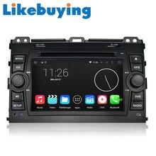 Likebuying  Car 2 Din 1024*600 QUAD CORE 16G DVD GPS Radio Stereo Navigator Android 4.4.4 for TOYOTA PRADO Cruiser 120 2003-2009
