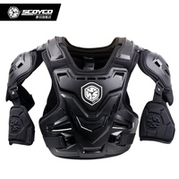 Scoyco AM07 Motocross Off Road Body Armor Motorcycle Racing Armor Suit Dirt Bike ATV Protective Vest with Shoulder Protectors