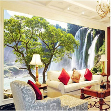 Custom photo wallpaper Large mural Living room sofa stereoscopic landscape scenery 3d badroom hotel