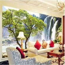 Custom photo wallpaper Large mural Living room sofa stereoscopic landscape scenery wallpaper 3d mural wallpaper badroom hotel все цены