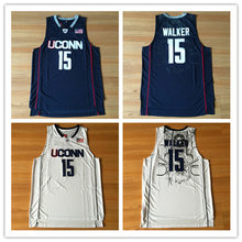 d3447fcc18ff BONJEAN Men Cheap Throwback Basketball Jerseys 15 Kemba Walker Uconn  Huskies College Jersey Stitched Retro Shirts