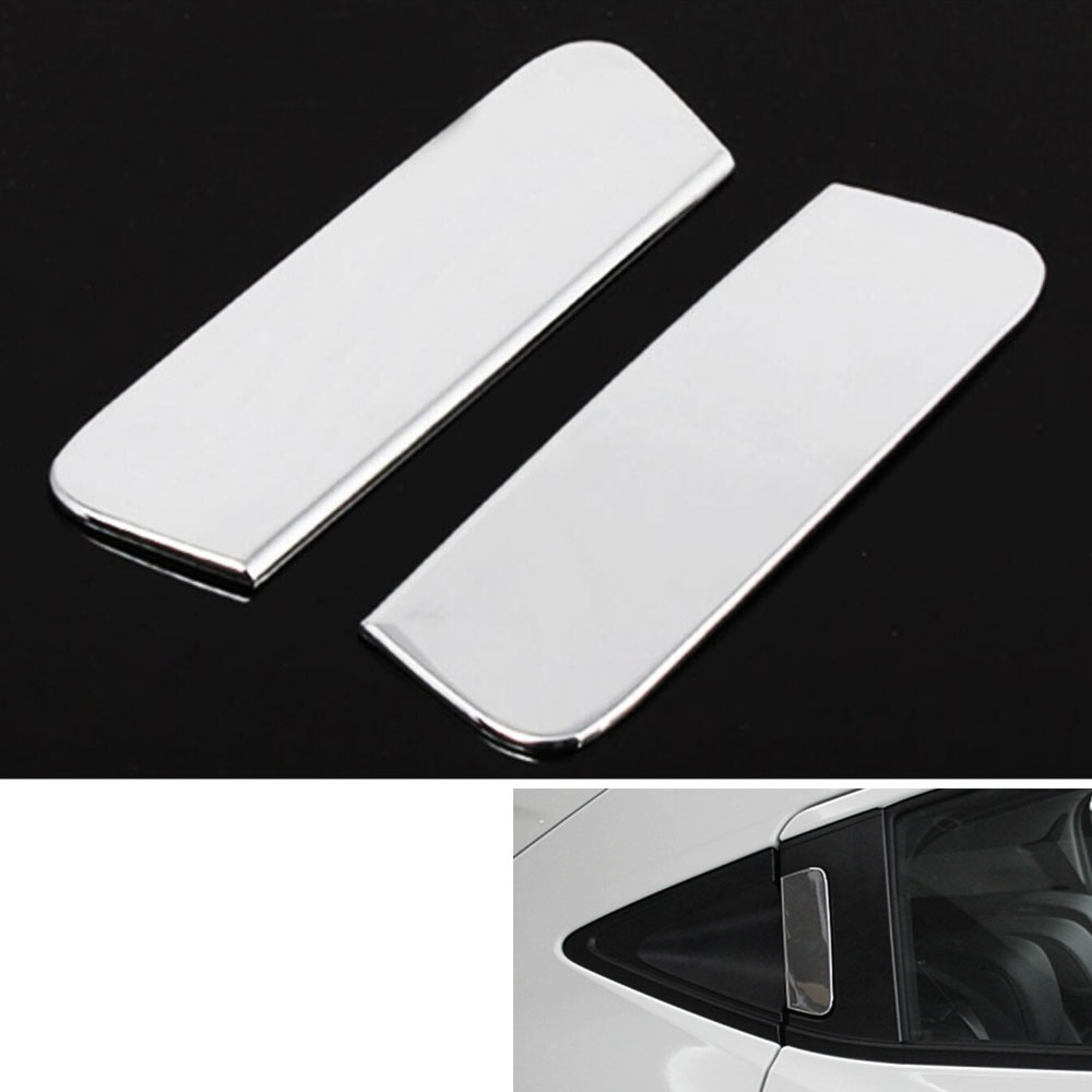2Pcs ABS Car Rear Door Handle Catch Cover Insert Trim Cavity Molding Decoration Garnish For 2015 Vezel HRV HR-V car styling