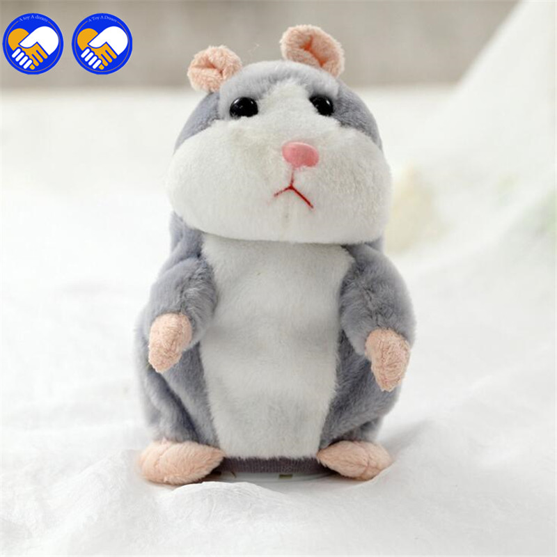 New Educational Children Sound Record Speaking Hamster Plush Interactive Hamster Toys For Kids Talking Hamster ZB-A156-8