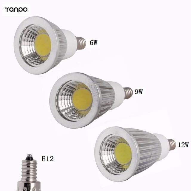 Super Bright LED Lamp E12 LED Spotlight Dimmable COB Bulbs 6W 9W ...