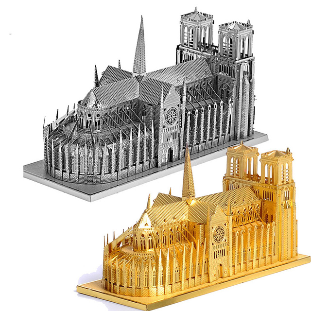 Piececool Notre Dame Cathedral Paris Building Architecture