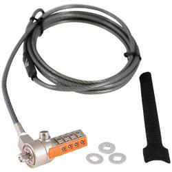 V7 Портативный кабель безопасности с Комбинации замок, серый, Комбинации замок, Комбинации/Key Code регистрации, Сталь, Тайвань, RoHS