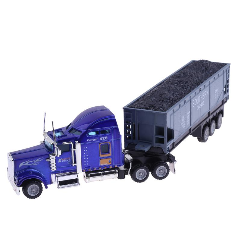 1:65 American Truck Container Truck Vehicle Simulation Model Car Toys for Children