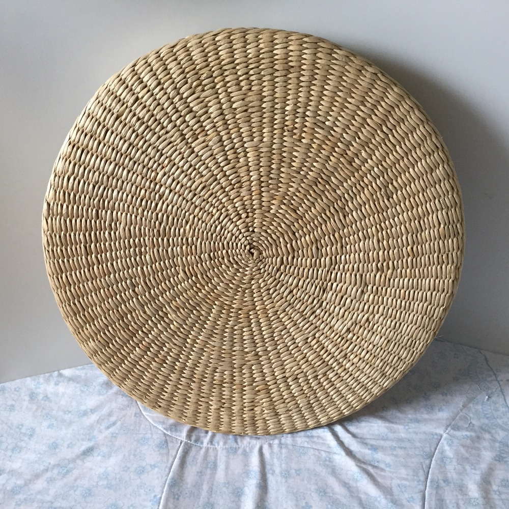 5 Size Hot Natural Straw Round Pouf Tatami Cushion Floor Cushions Meditation Yoga Round Mat Zafu Chair Cushion 40/45/50/60/70cm