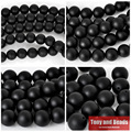 "Free Shipping AAAA Quality Black Frost Onyx Agate Round Beads 15"" Strand 4 6 8 10 12 14 MM Pick Size For Jewelry Making No.OB06"