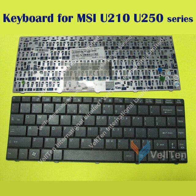 NEW Laptop Keyboard for MSI wind U210 U230 U250 X340X EX460 EX460X EX461 MS-1452 CR400 X400 Black Notebook keyboard US English