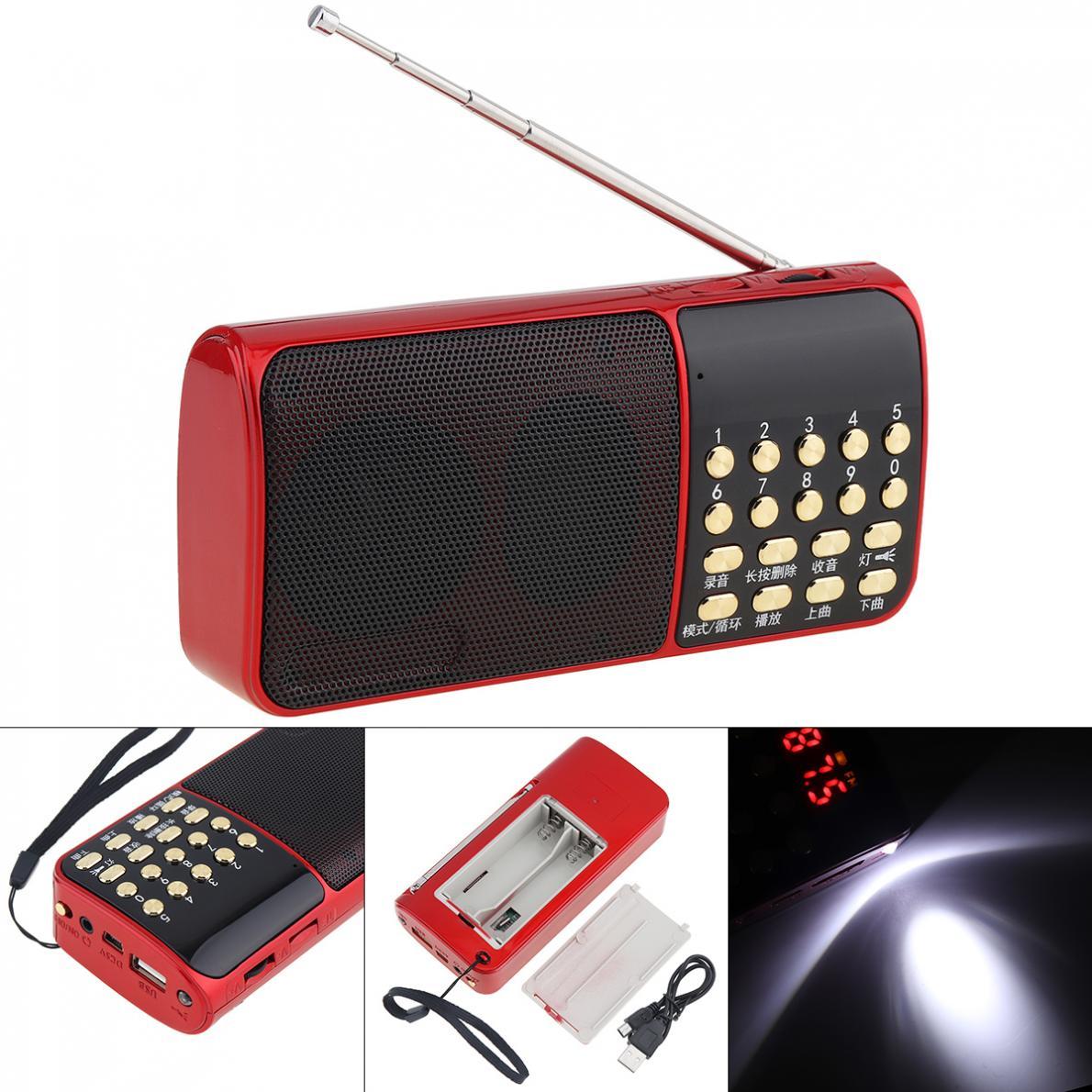 E51 Tragbare Radio Mini Audio Karte Lautsprecher Fm Radio Mit One-taste Beleuchtung Und Haltepunkt Speicher Für Hause Im Freien Unterhaltungselektronik Radio