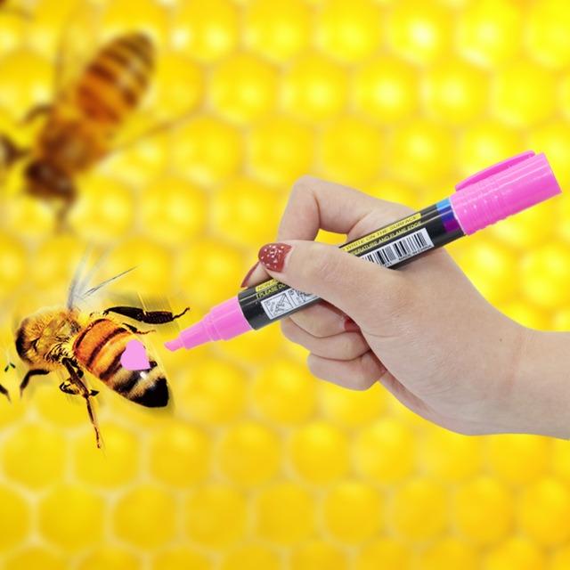 2 Pcs Queen Bee Tools 8 Colors Plastic Bee Queen Marker Pen Mark Paint Tool Bee Keeping Tools
