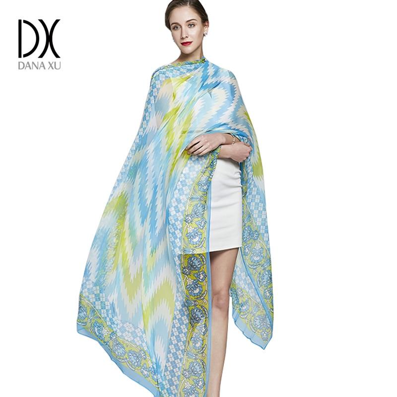 Ladies Silk Scarf New Luxury Brand Flower Womens Scarves Designer Summer Beach Blanket Bandana Muslim Hijab Foulard Pashmina